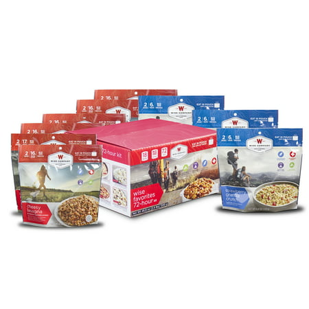 Wise 72-Hour Emergency Food Kit (9 Cook in Pouch Outdoor Meal (Wise Company Emergency Food Variety Pack 104 Serving)