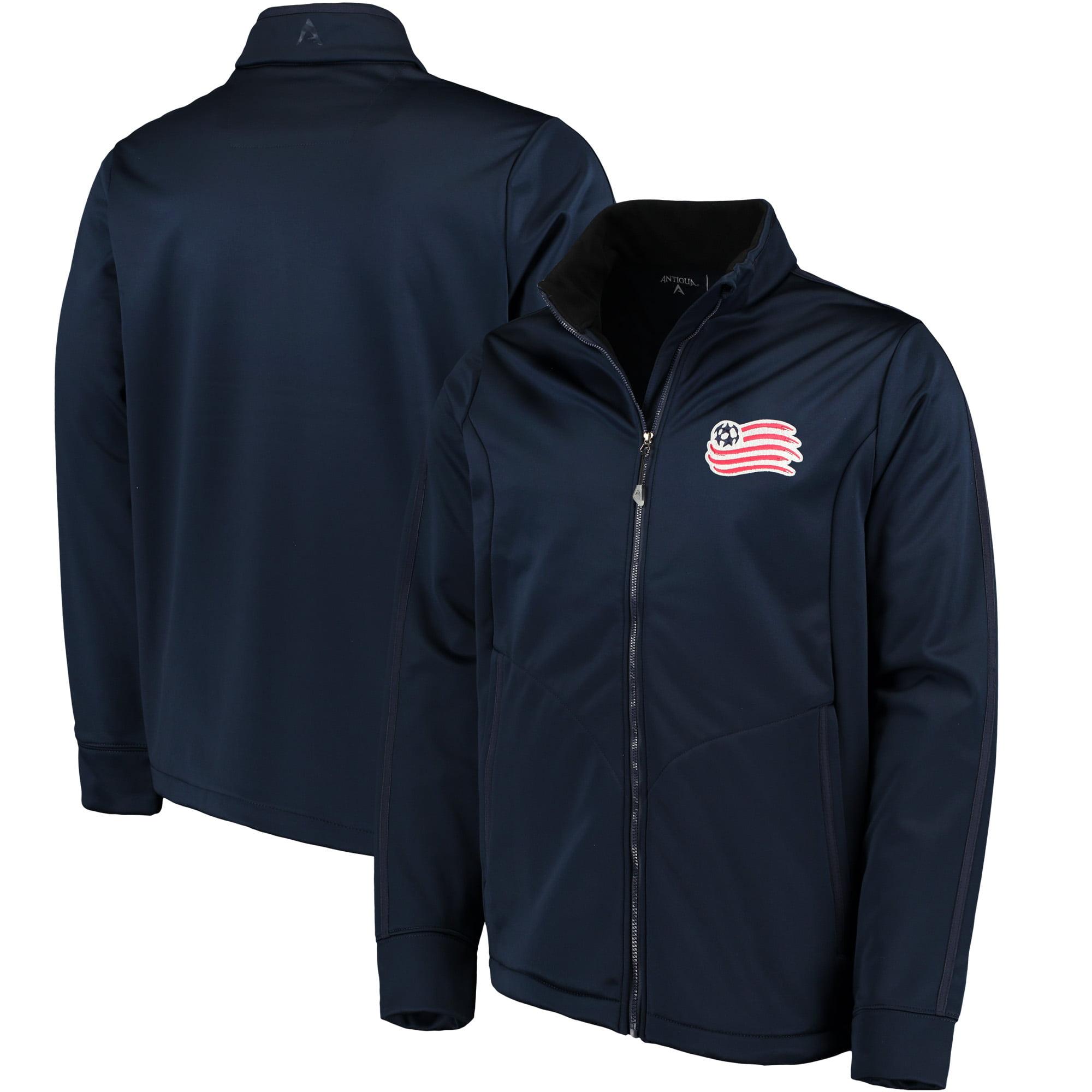 New England Revolution Antigua Golf Full-Zip Jacket - Navy