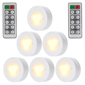 Wireless led puck lights with remote control battery powered 6 pack wireless led puck light with remote control operate aloadofball Choice Image