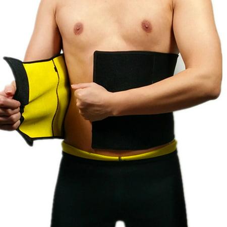 Neoprene Mens Ab Shaper Belt Waist Trimmer Sweat Slimming Belt Waist Cincher Weight Loss by iSupportPosture (Small)