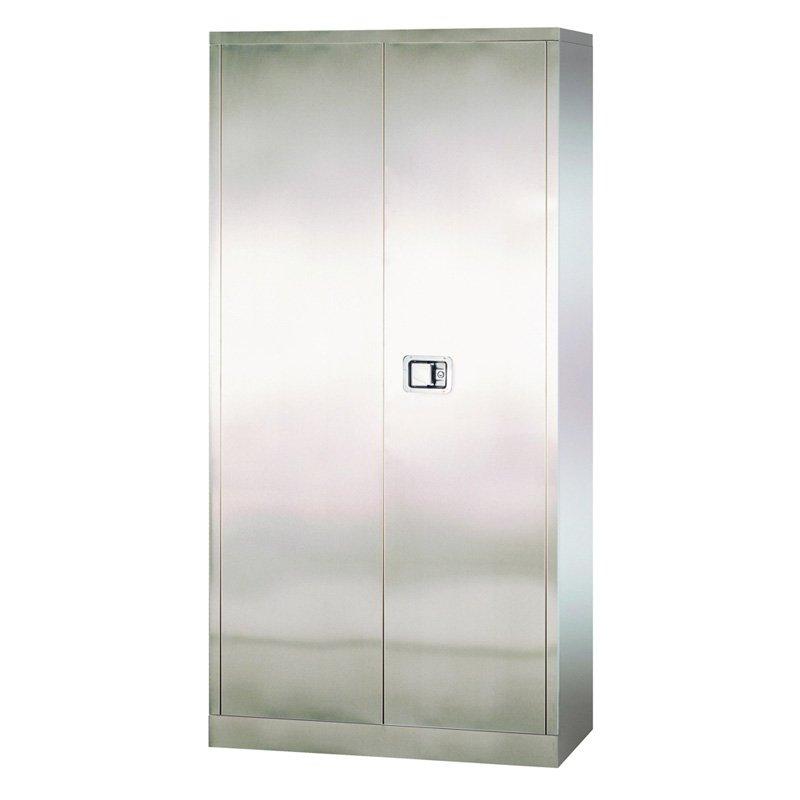 Edsal Stainless Steel Paddle Lock Storage Cabinet