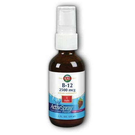 Vitamin B-12 Spray 2500 mcg Kal 2 oz Liquid - Walmart.com