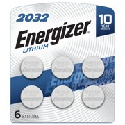 Energizer 2032 Batteries, Lithium Coin Cell 3V Batteries (6 Pack)