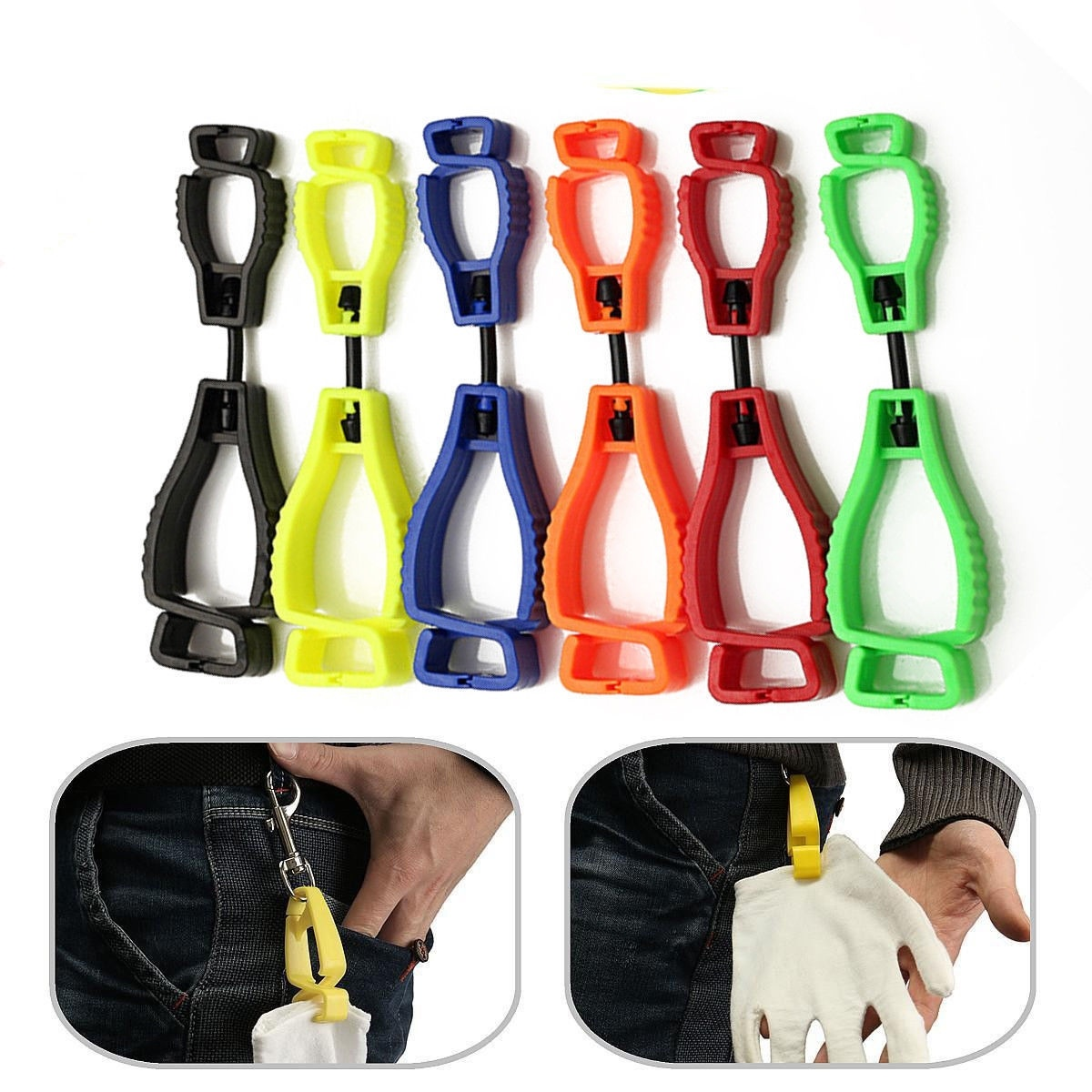 Safety Guard Glove Clip Holder Hanger Labor Work Clamp Grabber Catcher Work Hot
