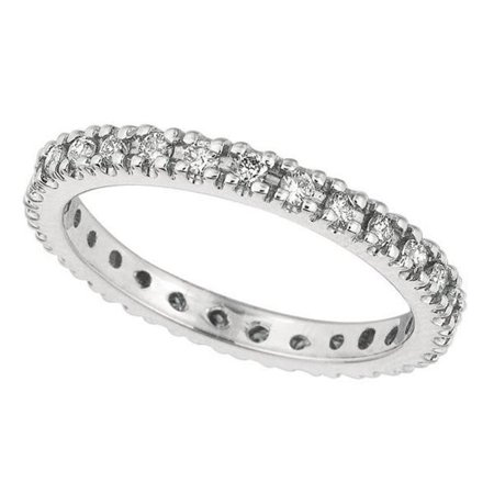 Harry Chad Enterprises HC11053-6 0.51 CT Diamonds Eternity Wedding Band - 14K White Gold - Size 6 - image 1 of 1