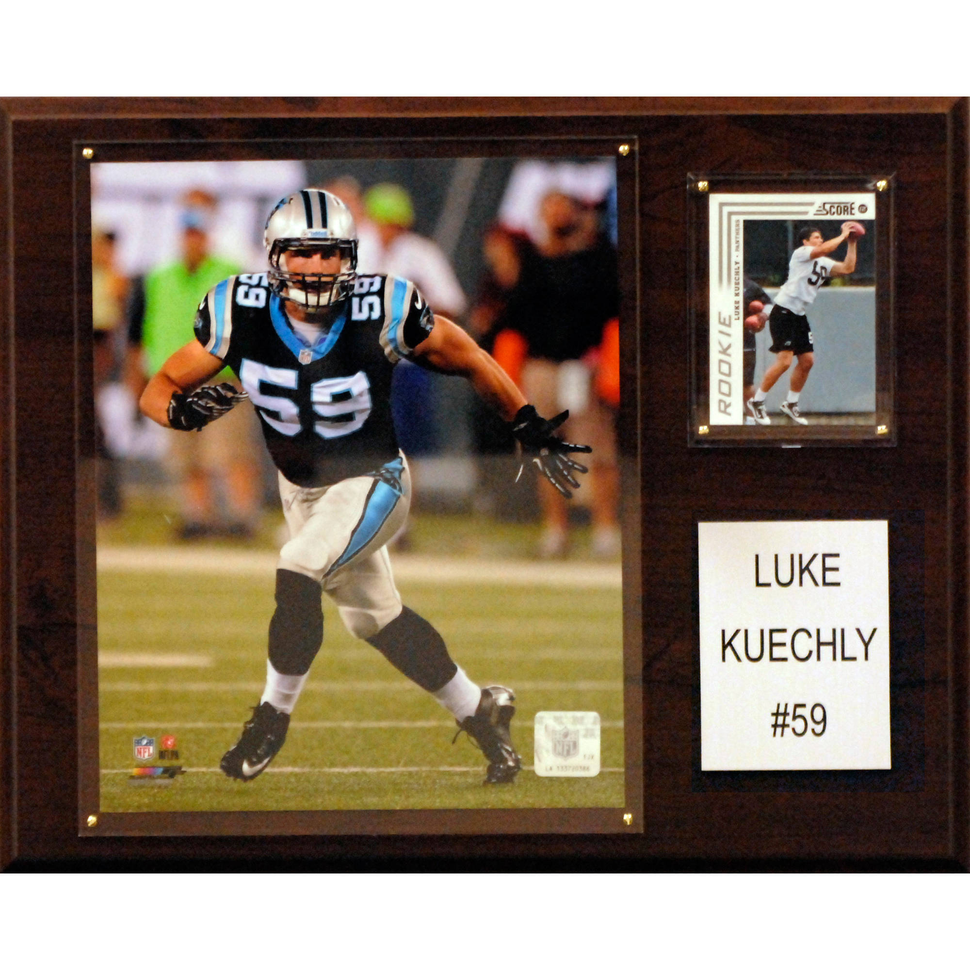 C&I Collectables NFL 12x15 Luke Kuechly Carolina Panthers Player Plaque