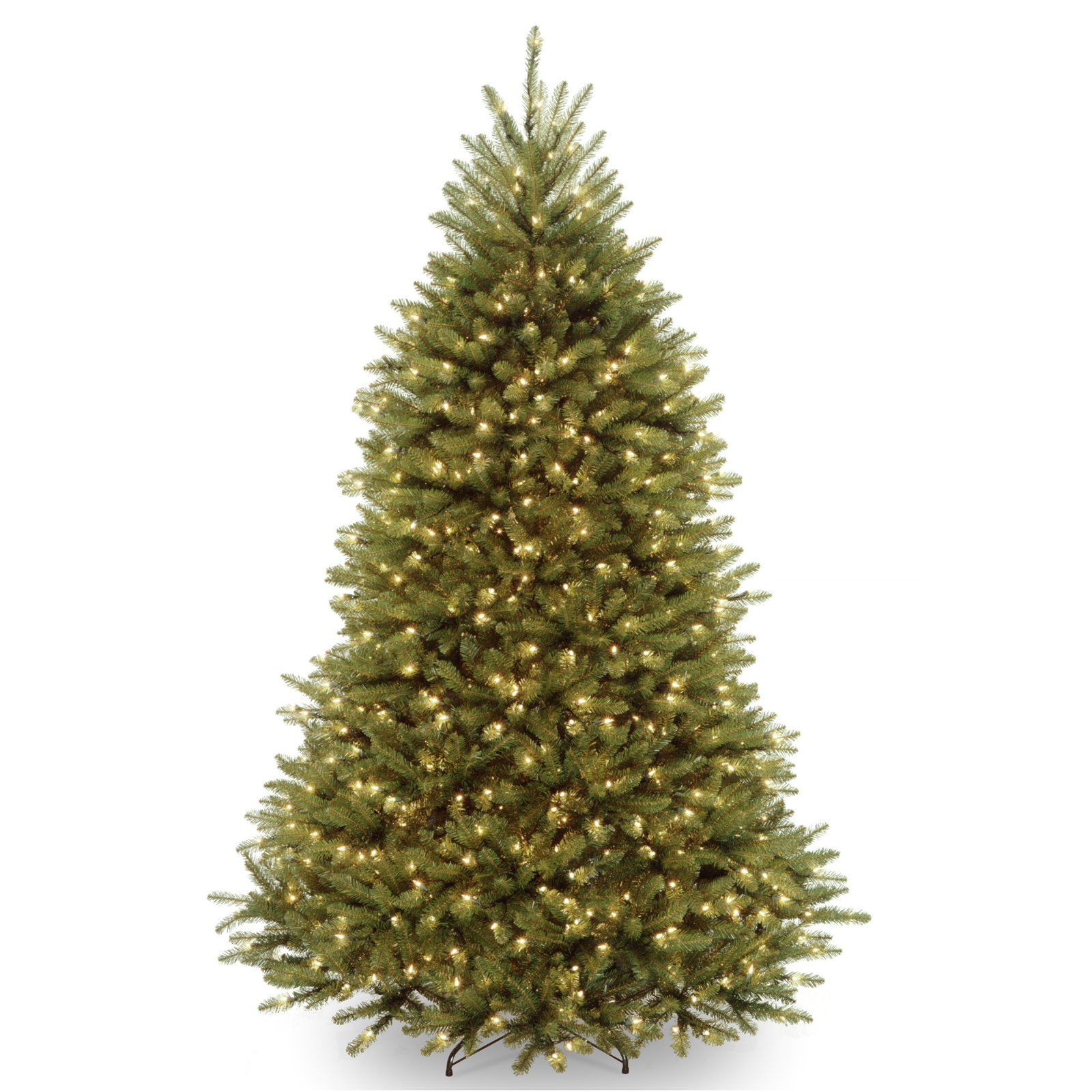 National Tree 7.5' Dunhill Fir Hinged Tree with 700 Dual-Color LED Lights and PowerConnect System, 9 Functions
