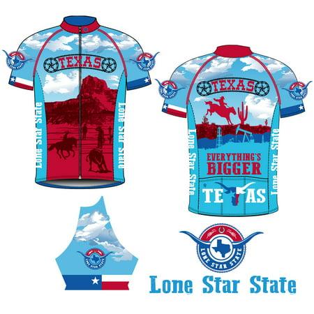 Canari Cyclewear Texas Retro Souvenir Short Sleeve Cycling Jersey - 12258 (Texas Retro - Multi - - Canari Signature Cycling Jersey