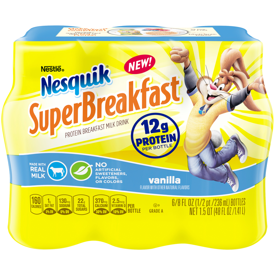 NESQUIK SuperBreakfast Vanilla Protein Breakfast Milk Drink 48 fl. oz. Pack