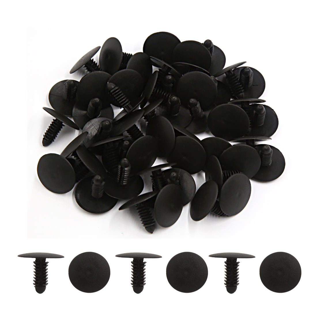 50Pcs 8mm Hole 0.31Inch Clips Push Type Rivet Retainer Fastener Bumper Pin Car - image 1 of 2