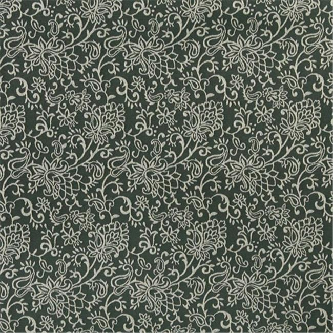 Designer Fabrics B601 54 in. Wide Green, Contemporary Floral Jacquard Woven Upholstery Fabric