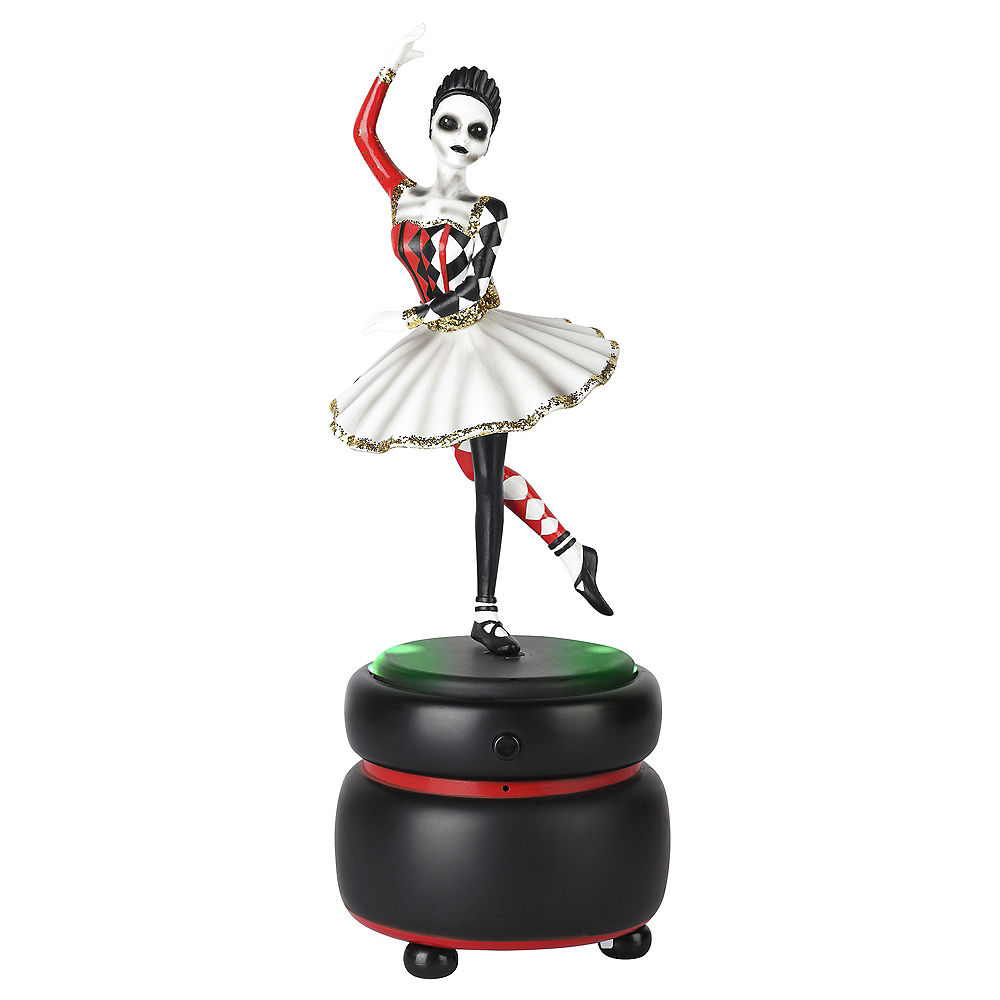 Animated Skeleton Ballerina Music Box