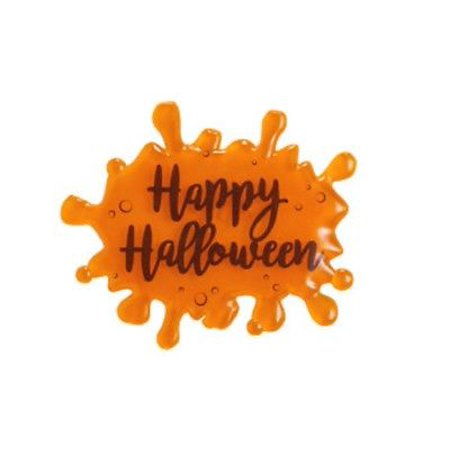 Orange HAPPY HALLOWEEN Slime Saying Drip Script Cake Toppers - 1 Piece - 22841O - National Cake Supply - Funny Happy Halloween Sayings