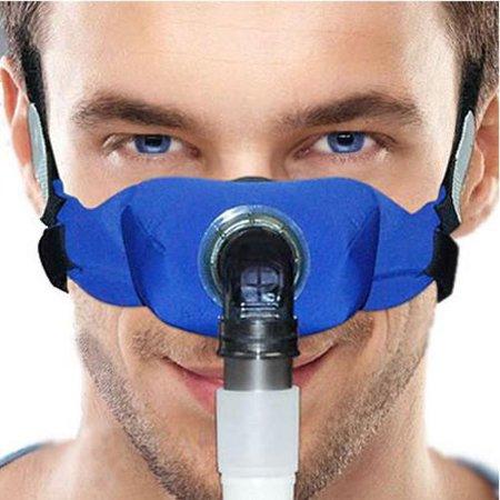 SleepWeaver Elan Soft Cloth Nasal CPAP Mask, Blue (Regular) by