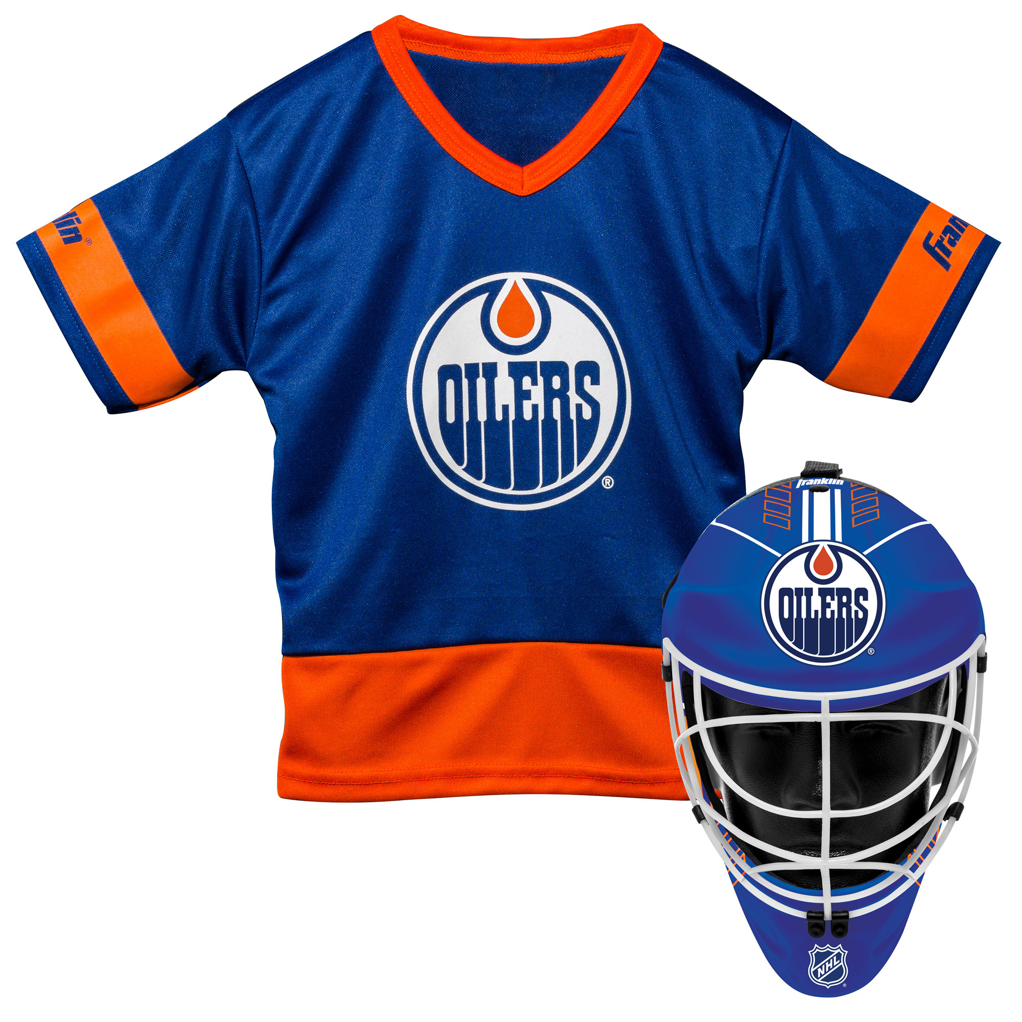 Franklin Sports NHL Edmonton Oilers Youth Team Uniform Set