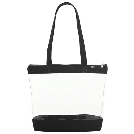 Clear Shoulder Tote with Zipper Closure