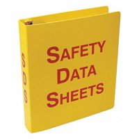 ACCUFORM ZRS641 Binder,Red/Yellow,10-5/8 in. W,English