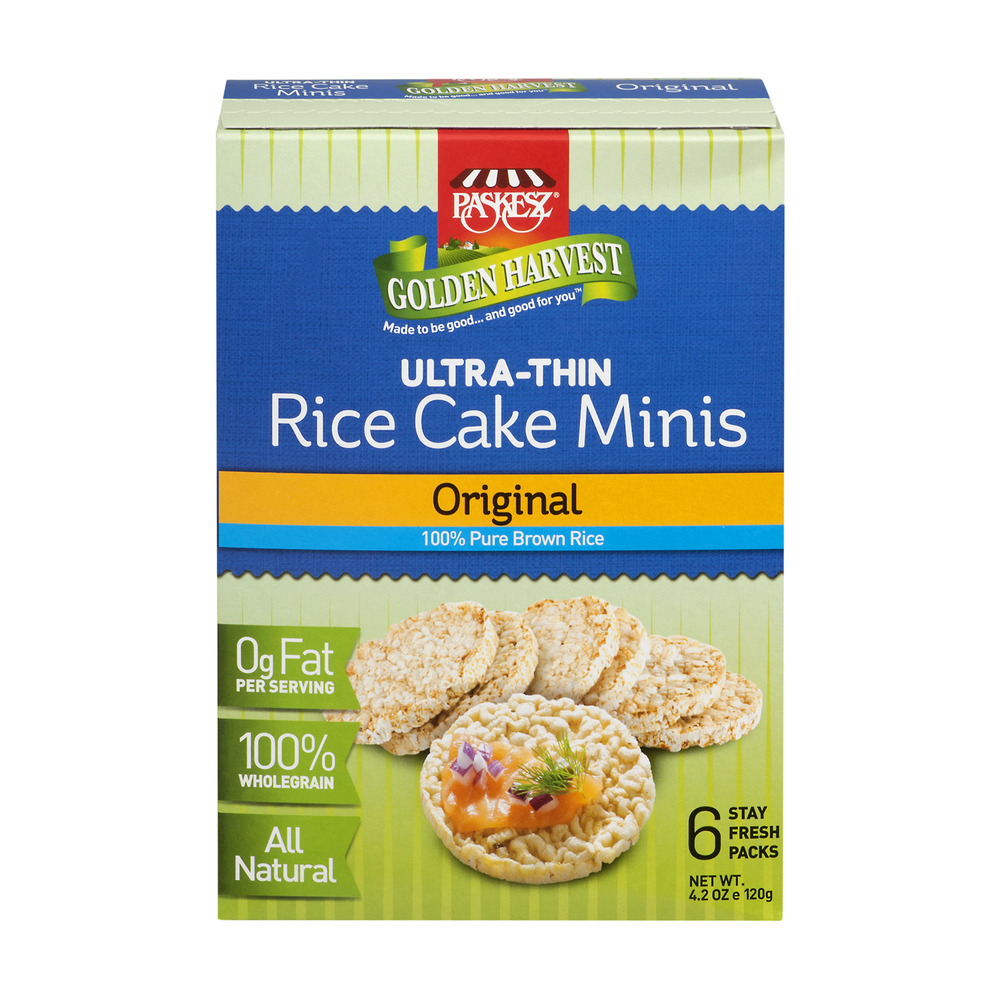 Paskesz Golden Harvest Rice Cake Minis Original Packs - 6 CT