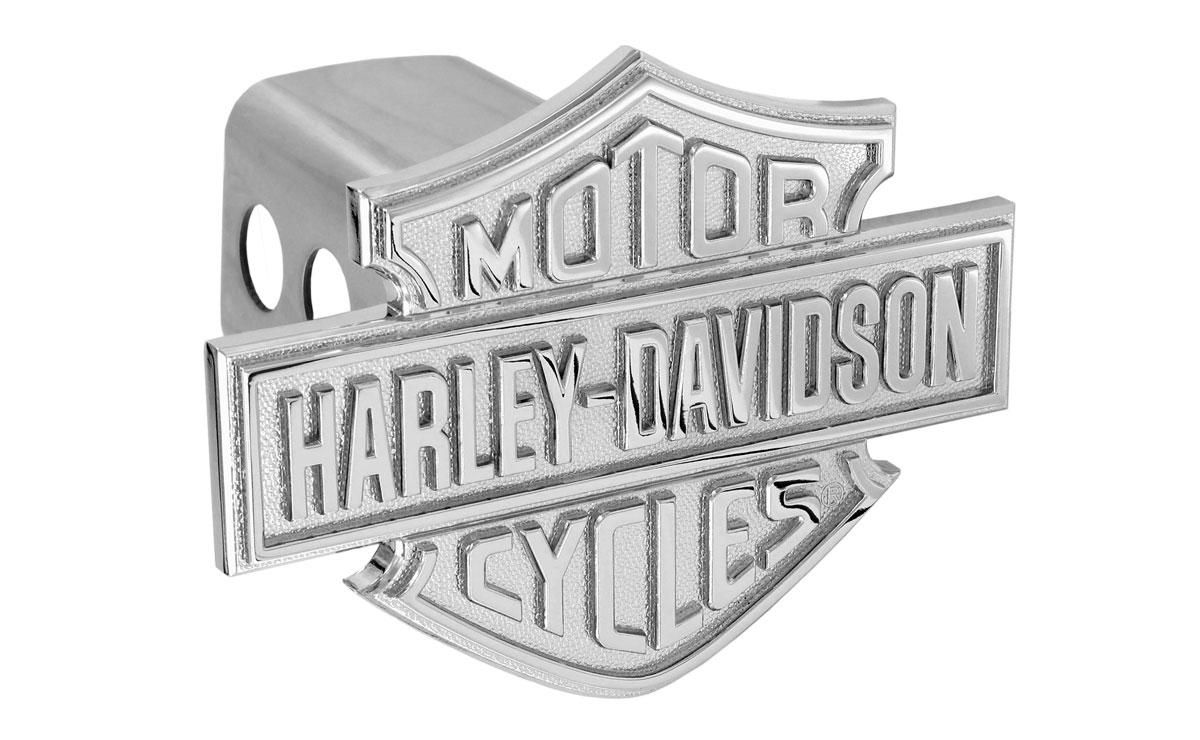 2 inch Black /& White Harley-Davidson Oval Bar /& Shield Flag Hitch Cover