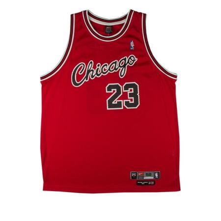 Nike Mens Chicago Bulls Michael Jordan #23 Jersey Red Black by