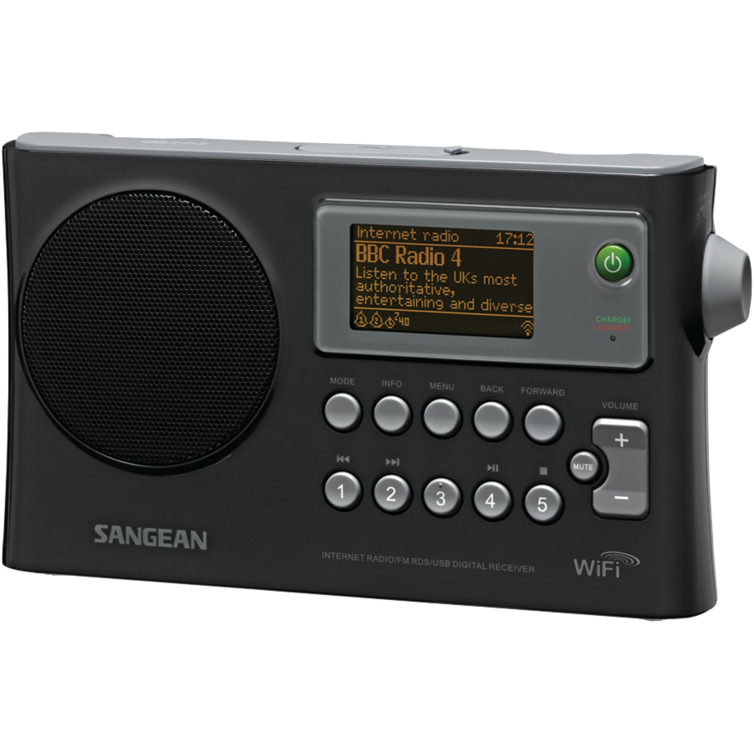 Sangean WFR-28 Wi-Fi FM-RDS Network Music Player USB Portable Radio by Sangean