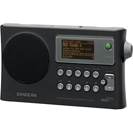Sangean WFR-28 Wi-Fi FM-RDS Network Music Player/USB Portable Radio ...