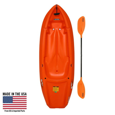 Lifetime, 6', Youth Kayak, with Bonus Paddle, (Orange) 90154 2 Person Travel Kayak