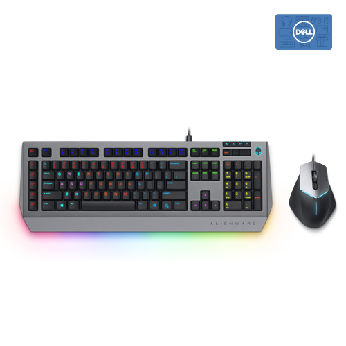 Alienware Pro Gaming Keyboard  AW768 + Alienware Advanced Gaming Mouse AW558