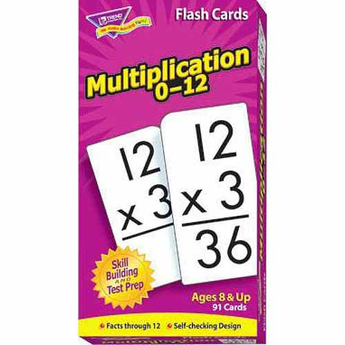 Trend Enterprises Trend Math Flash Cards, Multiplication Flash Cards, Set of 91 Cards