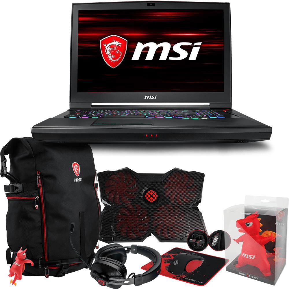 "MSI GT75 TITAN-056 Enthusiast (i7-8850H, 32GB RAM, 500GB NVMe SSD + 1TB HDD, NVIDIA GTX 1080 8GB, 17.3"" Full HD 120Hz 3ms, Windows 10 ) VR Ready Gaming Notebook"