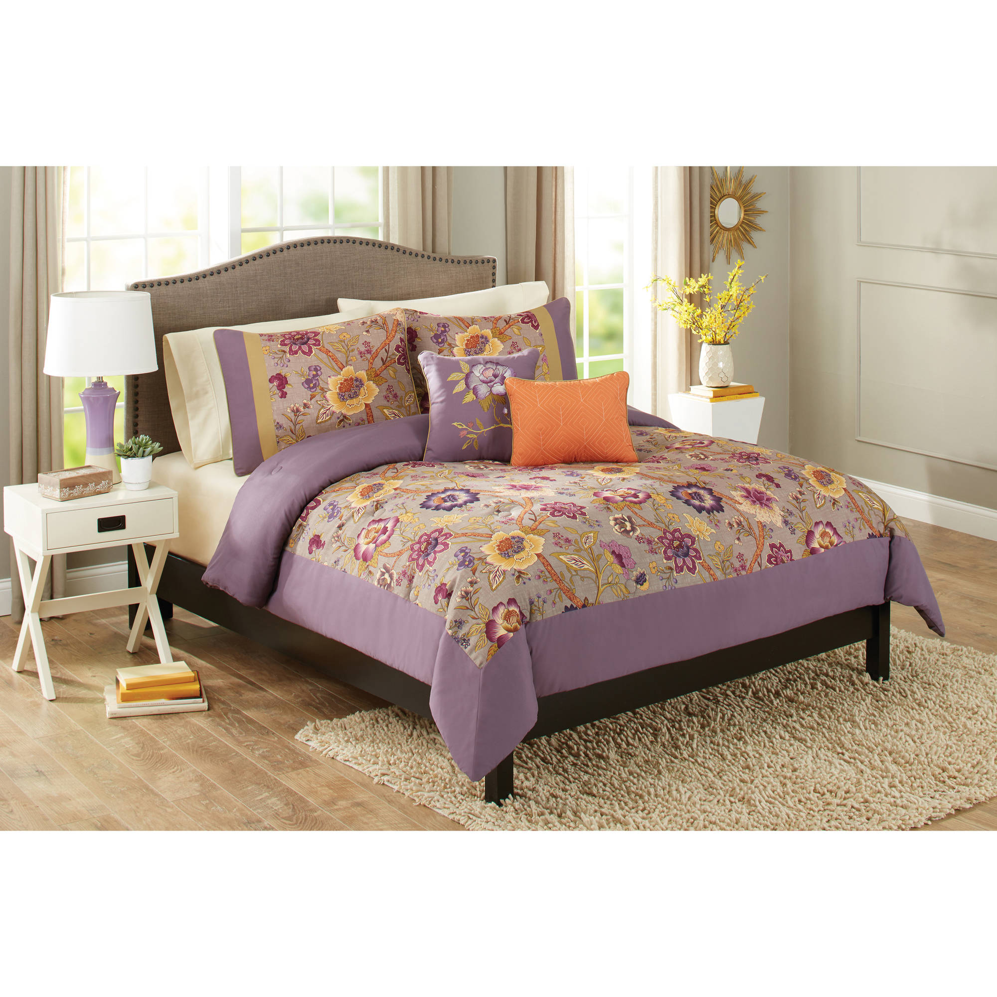 Better Homes and Gardens 5-Piece Rose Garden Bedding Comforter Set