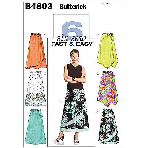 Butterick Pattern Misses' and Misses' Petite Skirt, BB (8, 10, 12, 14)
