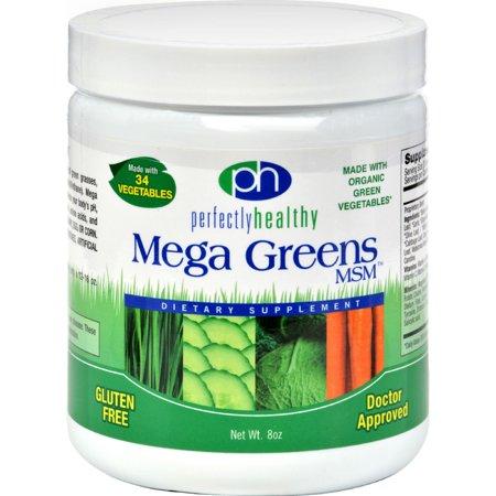 Image of Perfectly Healthy Mega Greens plus MSM Powder - 8 oz
