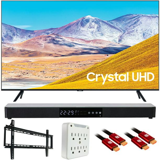 "Samsung UN43TU8000 43"" TU8000 4K Ultra HD Smart LED TV (2020 Model) with Deco Gear Home Theater Soundbar, Wall Mount Accessory Kit and HDMI Cable Bundle (UN43TU8000FXZA 43TU8000 43 Inch TV)"