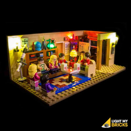 LIGHTING KIT FOR BIG BANG THEORY 21302 (BUILDING SET NOT INCLUDED) BY LIGHT MY (Brick Three Light)