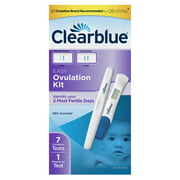 Clearblue Easy Ovulation Kit Combopack- 7 Ovulation Tests + 1 Pregnancy Test