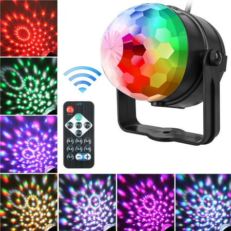 Party Lights, EEEkit Sound Activated Disco Ball Strobe Light 7 Lighting Color with Remote Control for Bar Club Birthday Party DJ Karaoke Xmas Wedding Show and Outdoor - Disco Ball Kit