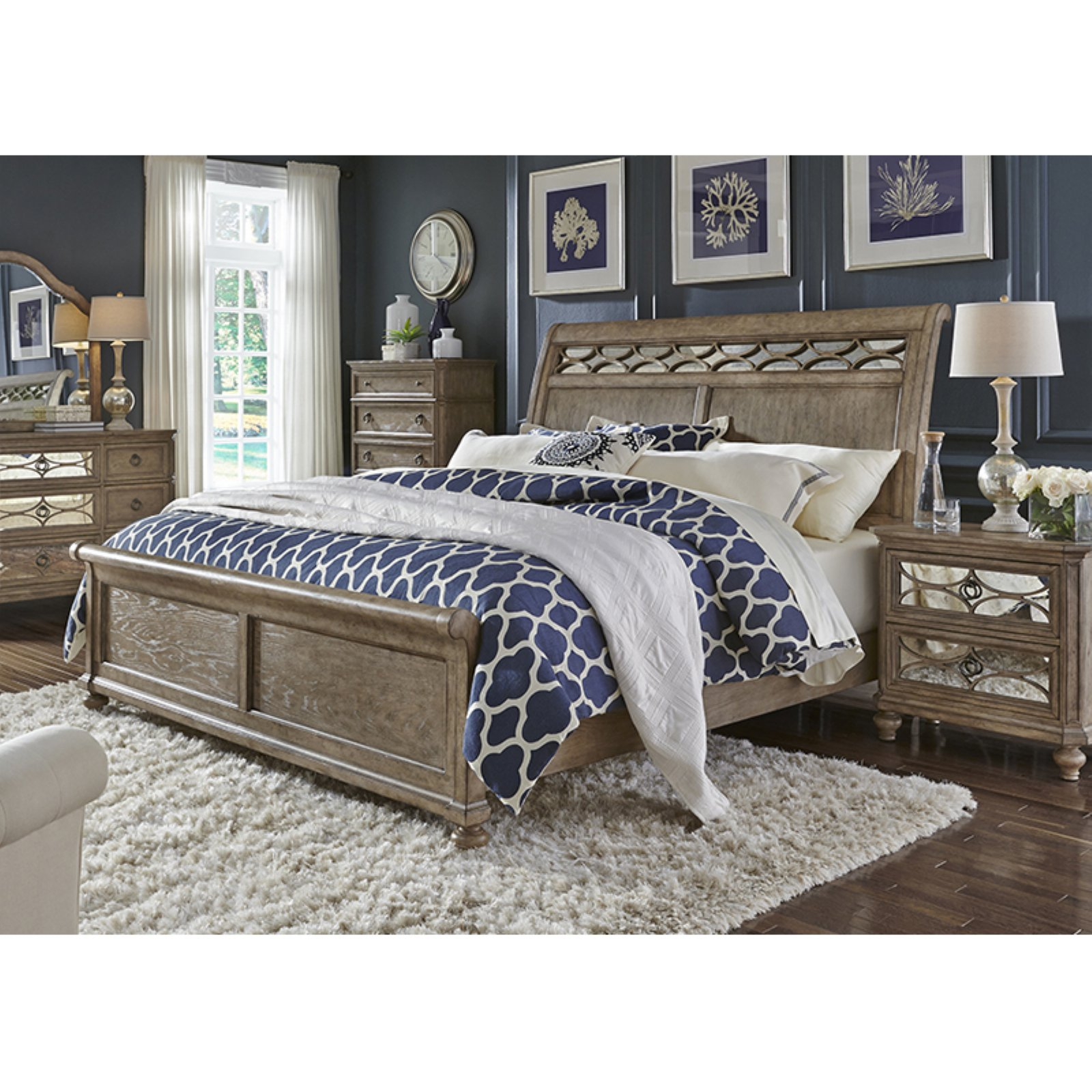 Liberty Furniture Industries Simply Elegant Sleigh Bed