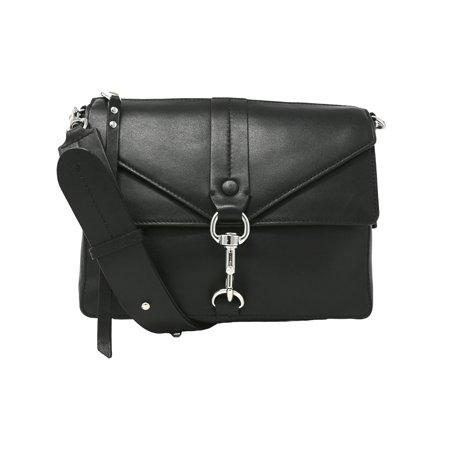 Black Leather Criss Cross (Rebecca Minkoff Women's Rochelle Crossbody Leather Cross Body Bag - Black )