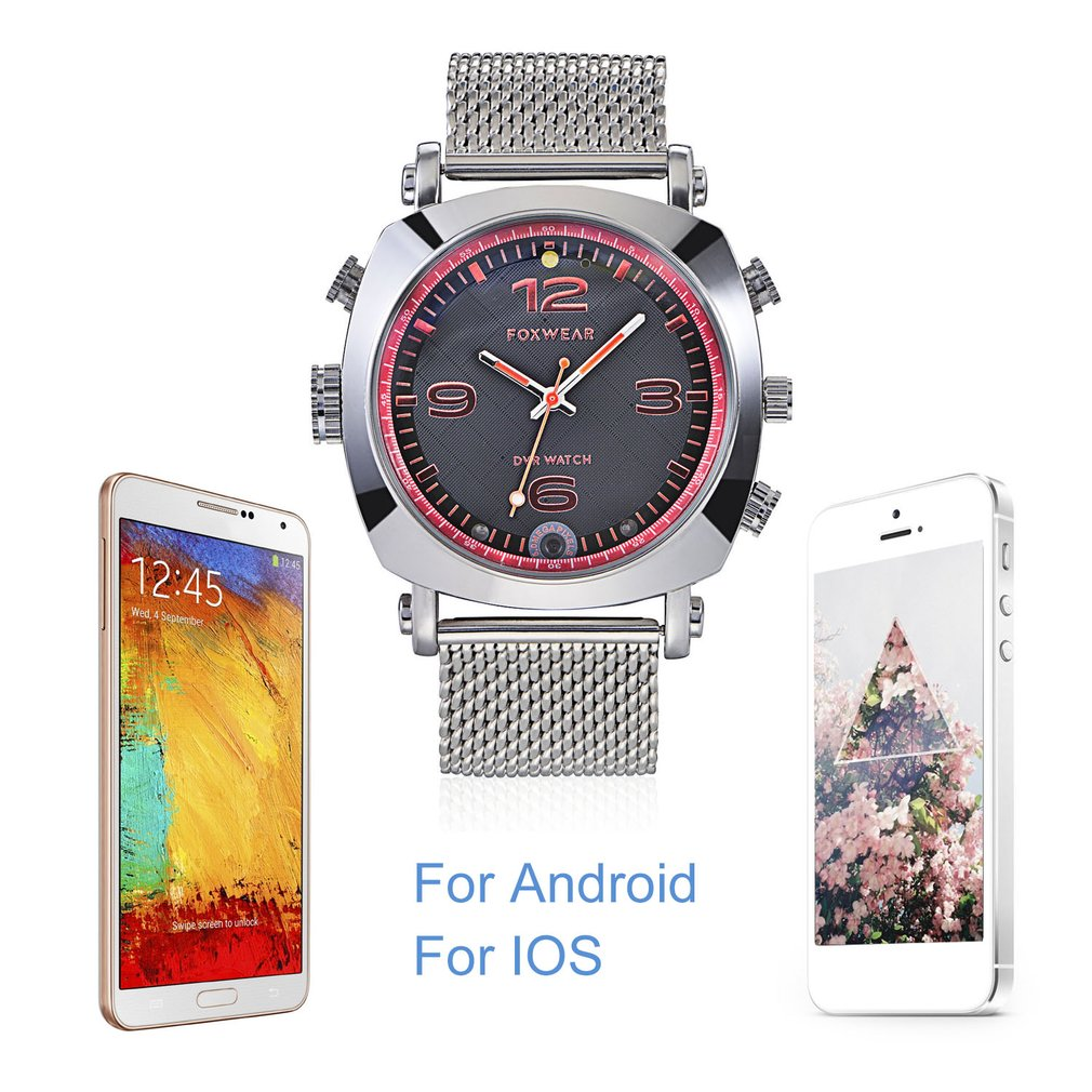FOXWEAR-F25 WIFI Camera Watch 8/16/32GB Smart Phone Support For Android Phone For iPhone Smartwatch TF Card Remote Control