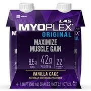 EAS Myoplex Original Ready-To-Drink Protein Shake, Vanilla Cake, 16 fl oz, 4 count