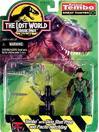 Jurassic Park The Lost World Roland Tembo Dino Stun Prod /& Pacho Hatchling