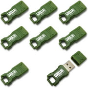 EP Green Mini GorillaDrive 8GB Rugged USB Flash Drive, 8-Pack