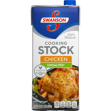 (3 Pack) Swanson Unsalted Chicken Cooking Stock, 32 oz. ()