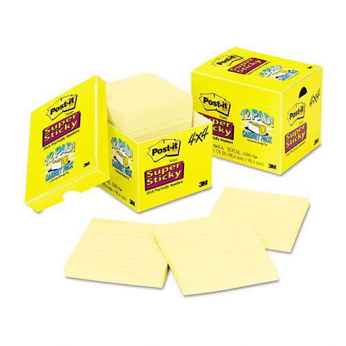 Post-it Super Sticky Canary Lined Cabinet Pack, Post-it® Super Sticky Notes. By Postit Notes Super Sticky,USA