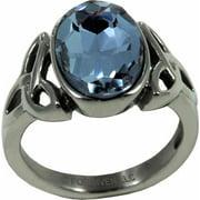 Ring-Trinity W/Blue Stone (Stainless)-Sz  7