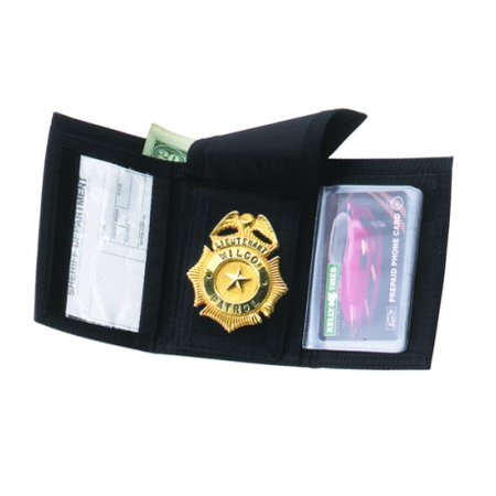 - Strong Leather 70000-0002 Black Ballistic Nylon Tri-Fold Wallet/Pocketbook