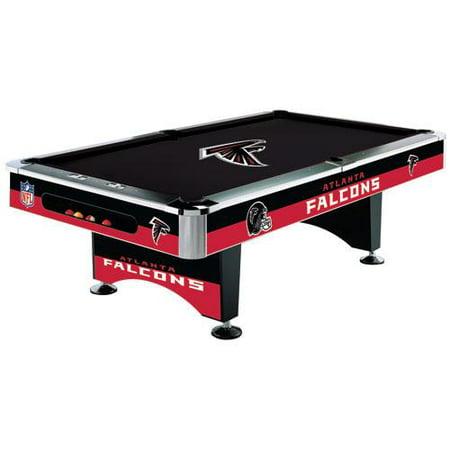 Atlanta Falcons Pool Table - 8 Foot with Logo Cloth