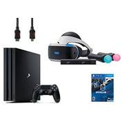 PlayStation VR Start Bundle 5 Items:VR Headset,Move Controller,PlayStation Camera Motion Sensor,PlayStation 4 Pro 1TB,VR Game Disc PSVR DriveClub