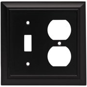 Brainerd Architectural 2-Gang Toggle Switch/Duplex Outlet Combination Wall Plate